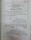 Vietnamese version of legalized copy of Incorporation Certificate